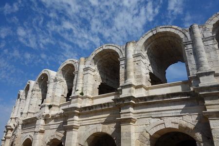 arles: Roman Amphitheatre Stock Photo