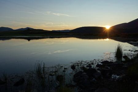 tarn: Sunset at Tewet Tarn