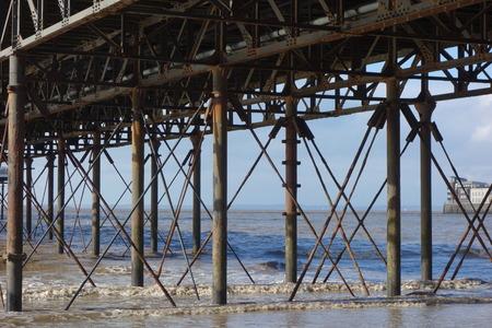 weston super mare: Under the Pier Stock Photo