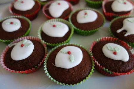 cioccolato natale: Chocolate Christmas Cupcakes