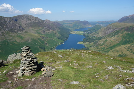 pike: Fleetwith Pike Cairn Buttermere and Crummock Water