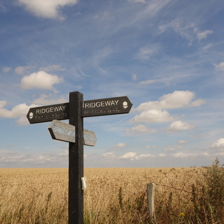 Ridgeway Path Sign Stock Photo