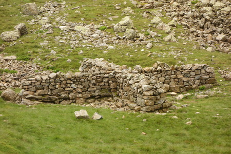 fell: Sheepfold near Great End fell