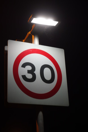 thirty: Thirty Speed Limit Sign