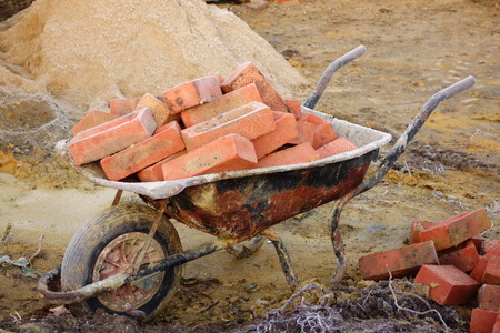 housebuilding: Bricks in Wheelbarrow