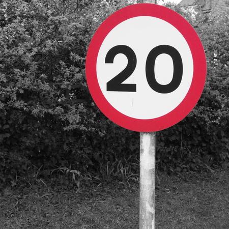 twenty: Twenty Speed Limit Sign