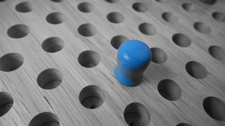 Feeling Blue Stock Photo