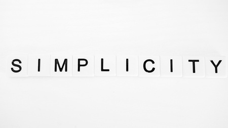 sencillez: Simplicidad Foto de archivo
