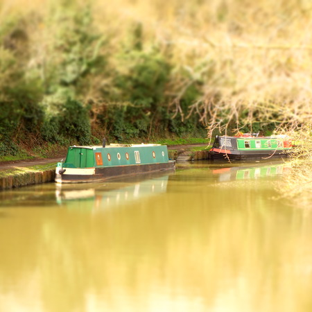 Canal boats on grand union canal