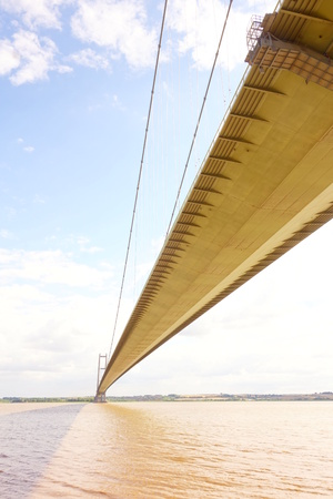 yorkshire and humber: Humber Bridge from underneath