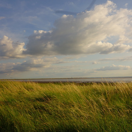 yorkshire and humber: Looking across Humber Estuary to Spurn Head