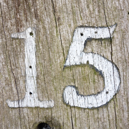 Number Fifteen Stock Photo