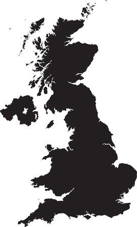 la carte du Royaume-Uni Vecteurs