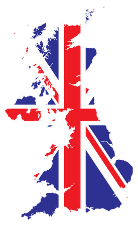 map of britain with in a flag Stock Vector - 4509635