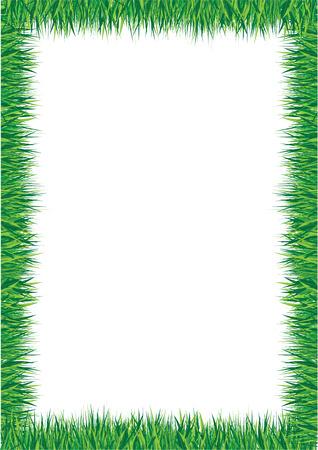 a4 borders: frontera de hierba