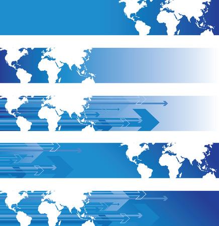 weltkugel asien: Welt-Banner Illustration