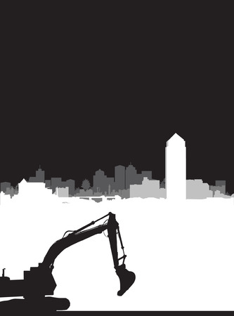 digger: brochure construction background