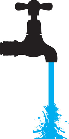 tap with water: dripping tap