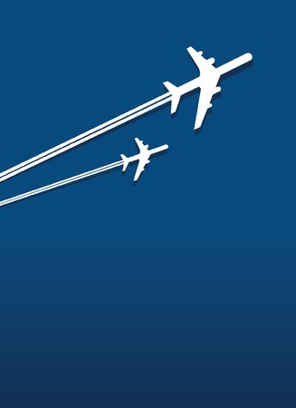 air freight: planes in flight