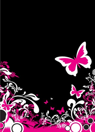 purple butterfly: butterfly background