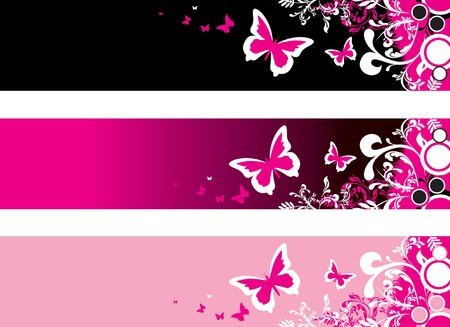 butterfly banners Stock Vector - 7619193