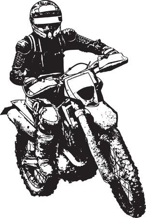 bicycle race: motorbike