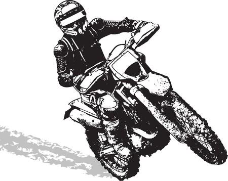 motocross: motorbike