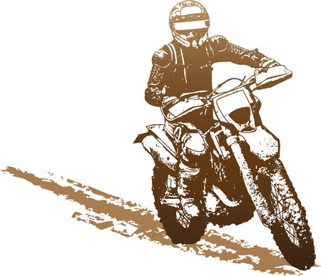 motocross race: motorbike