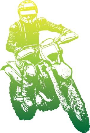 dirt bike: biker