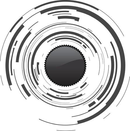 camera lens: abstracte camera achtergrond Stock Illustratie