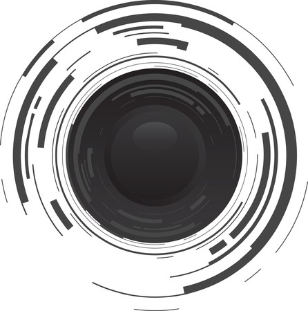 camera lens: abstract camera background