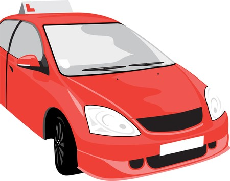 car driver: learner car Illustration