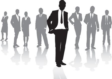 traje: gente de negocios