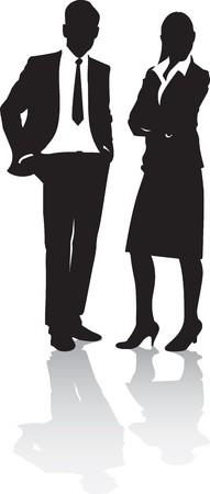 silueta masculina: gente de negocios