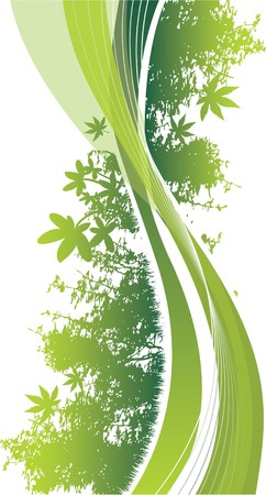abstract woodland Vector