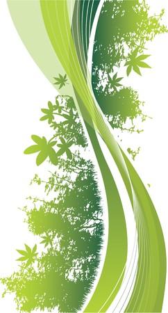 yellowrn: abstract woodland Illustration