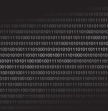 surfing the net: binary code Illustration