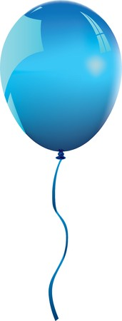 helium: blue balloon