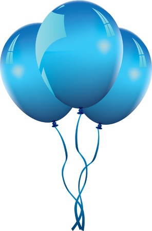 blue balloons Stock Vector - 7810503