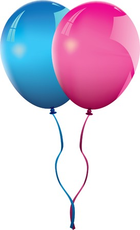 blue and pink balloons Stock Vector - 7810499