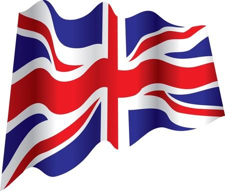 united kingdom: british flag Illustration