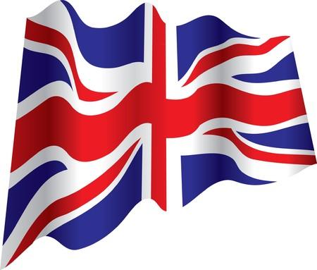 flapping: british flag Illustration