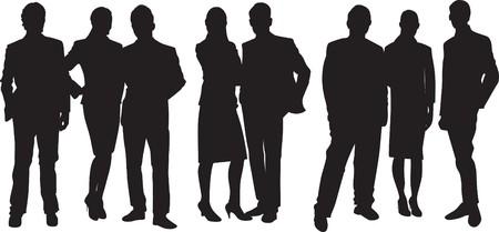 gruppe von menschen: Silhouette von Menschen