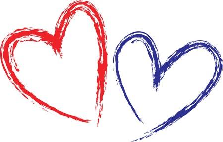 corazon en la mano: corazones de amor  Vectores