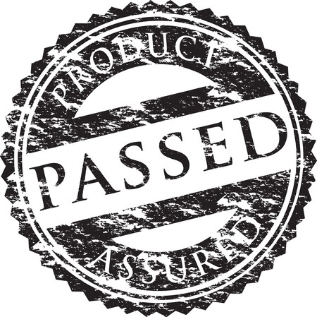 approved sign: passed stamp
