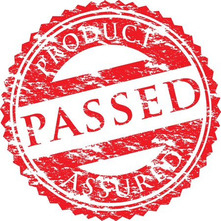 passed stamp Vector