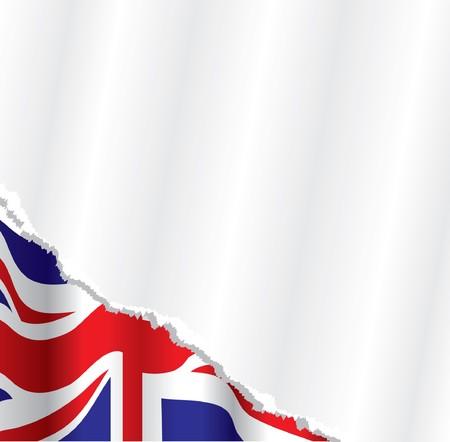 brytanii: flagi brytyjskiej tła Ilustracja