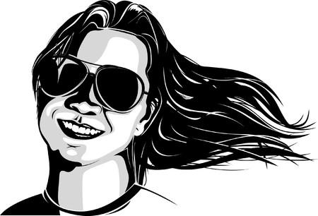 flowing hair: flowing hair lady