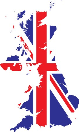 map of britain Stock Vector - 7661440