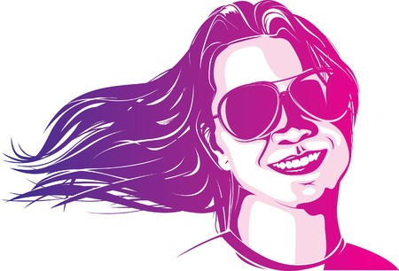 lady in glasses Vector